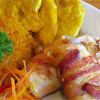 Chicken Breast stuffed with Yucca Mofongo