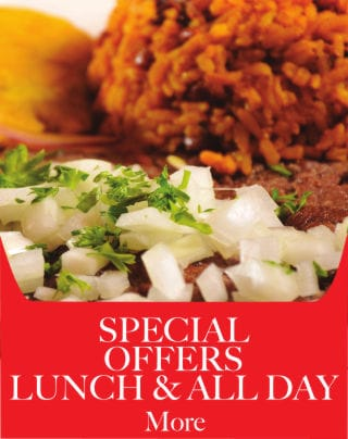 Special Offers, Lunch & All Day - Metropol Restaurant - Puerto Rican, Cuban, and International Food.
